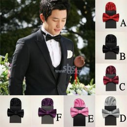 Wholesale Men Bow Tie and Hanky Set Hot Sale Different Colors Handkerchief Fashion Men Accessories For Groom MG02