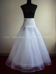 Wholesale Ship out In days Real Picture In Stock Hot Sale Hoop White A Line Bone Petticoats For Wedding Dress Underskirt Accessories Slip