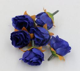 Горячая распродажа ! 500pcs 7-цвет чай цветок розы Глава Искусственный цветок Свадебные цветы Украшение (za81)