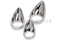 Wholesale Stainless Steel Teardrop Cock Ring Deluxe Penis Ring
