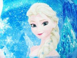 Wholesale Frozen Elsa Raschel Blanket frozen Dairy queen elsa adventures Frozen anime raschel blankets NEW HOT Via DHL