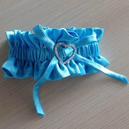 Wholesale White Ivory Stain Wedding Garters Supplies Bridal for Wedding With Litter Heart Wedding Accessories With Bown In Stock