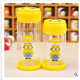 Wholesale Hot Sale Despicable Me Warm keeping Water Bottle Glass styles Children ml Portable Cup zip top can bottles Christmas Gifts A382
