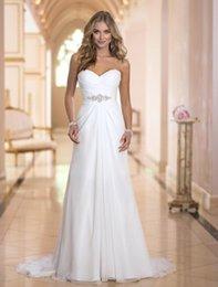 Wholesale 2015 stella york Long White Chiffon Dress spot trade