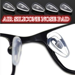 Wholesale Air silicone nose pad Soft Silicone Eyeglasses Sunglasses Air Bag Nose Pad Pads Pack of pairs