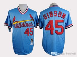 online shopping New Cardinals Gibson Blue Throwback Men s Baseball jersey Cheap Athletic Outdoor Apparel Emobroidery Name and Logo Allow Mix Order
