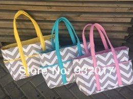 Wholesale 2015 new chevron diaper bags Chevron Diaper Bag Tote Nappy Bag Extra Large Gray and Aqua Grey gray and pink gray and blue