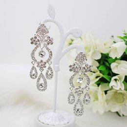Wholesale 2015 Vintage Crystal Earrings Delicate Handmade Gemstone Stud For Women Evening Prom Dresses CM Real Image In Stock