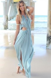 Wholesale 2015 Holiday Summer Boho Long Maxi Evening Party Dress Beach Dresses Bandage Strap dress Elegant Dress princess dress S371L