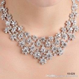 Wholesale New Full Mrden Holy Wedding party Rhinestone Crystal Necklace bracelet earring jewelry set Birdal Jewelry