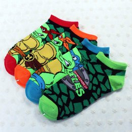 Wholesale Teenage Mutant Ninja Turtles TMNT Knitting Ankle Socks Baby Kids Socks Boys Mens Bow Socks kids children Christmas gifts B135