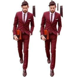 Black Red Two Piece Suit Man Online | Black Red Two Piece Suit Man