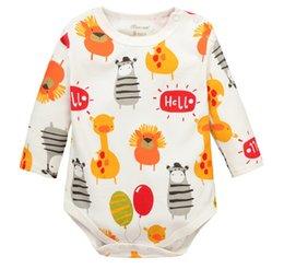 Wholesale Gros Cartoon Giraffe Zebra bébé manches longues Romper Baby Girl One Pieces Mignon Vêtements Salopette Roupas De Bebe Infantil Vêtements bébé