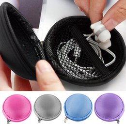 Wholesale New Arrivals Earphone Headphone Cable Charger Adapter Coin Hard Zipper Carrying Pouch Protective Storage Case Bag Bx78