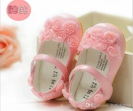 Wholesale GXR Baby Shoes Spring Summer Soft Lace Rose Flower Toddler Shoes First Walker Princess Shoes Inside CM pair Retail GX147
