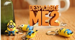 Wholesale 8styles discaple me characters key ring Minions alloy pendant key chain Children christmas X mas new year gifts Keychains Key Findeey chain