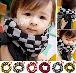 Wholesale Retail Baby Scarf Children Cotton Wool Scarf Autumn Winter Warm O Ring Knitted Scarves Christmas Gifts