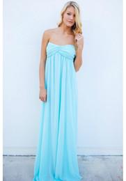 Turmec Strapless Empire Waist Maxi Dress