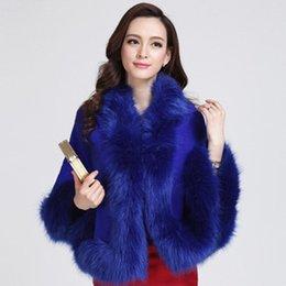Wholesale Autumn winter fashion women s clothing fur shawl jacket Cloak knitting cardigan Vintage explosion style B