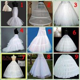 Wholesale 9 Style A Line Hoop Hoopless Super big wedding Crinoline Petticoat Underskirt Bridal Accessories