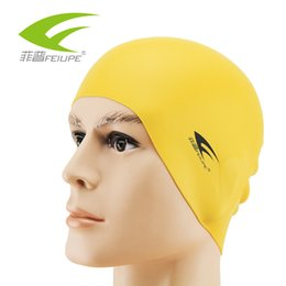 Wholesale NEW FEIUPE CAP801 Free size Waterproof Protect Ears Long Hair Pool Swimming Cap Hat Women Men Adults Water Sports order lt no track