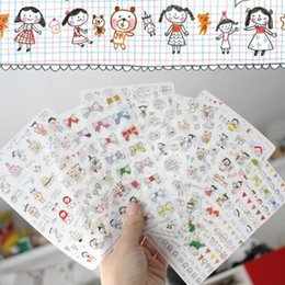 Handmade Diy Photo Album Diary Phone Decoration Crayon Girl Transparent Stickers