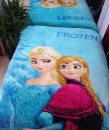 Wholesale Frozen snow and ice princess elsa anna blanket coral fleece blanket cartoon Aisha M