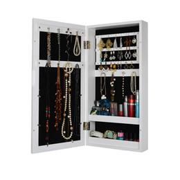 Деревянная рамка для фото настенного крепления Шкаф для ювелирных изделий Зеркальный шкаф для ювелирных изделий Living Rome Storage Stock in US