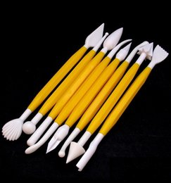 Wholesale Child clay color clay polymer clay tool diy desludging and creatively clay knife plastic set special effect embossed tools