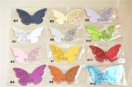 Wholesale Wedding supplies paper butterfly place card shop window ornaments hollow butterfly DIY decoration wedding card