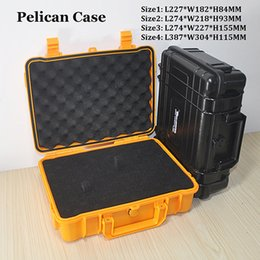 Wonderful Pelican Waterproof Case equipamento seguro Instrumento Box Moistureproof de bloqueio para ferramentas multi Camera Laptop VS Ammo Capa de Alumínio