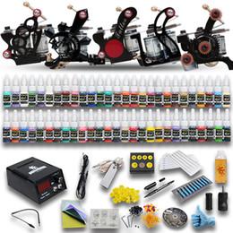 Wholesale Complete Tattoo Kits Tattoo Machine Guns Colors Inks Sets Power Supply Needles Starter Kit D179GD