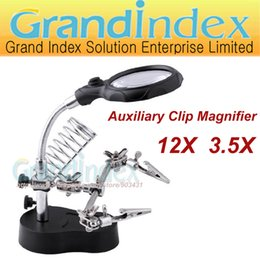 Wholesale Helping Hand Magnifying Soldering LED Iron Stand Lens Magnifier MG16126 A