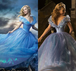 Wholesale 2015 Newest Cinderella Quinceanera Dresses Ball Gown Off Shoulder Backless Prom Dress Cheap Floral Sweep Train Sky Blue Organza Formal Gowns