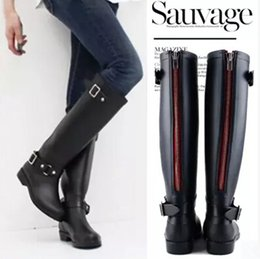 Discount Black Riding Rain Boots | 2017 Black Riding Rain Boots on ...