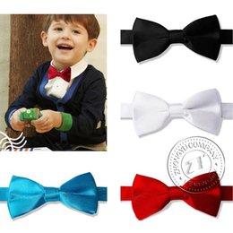 Wholesale Bow Tie New Boys Kids Wedding Party Satin Bow Tie Pre Tied Necktie Wedding Supplies HOT