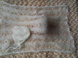 Wholesale Crochet Mohair Wraps With Bonnet Complete set of sale Newborn Photography Wraps Baby Shower Gift Newborn Photo Props