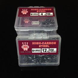 100pcs / lot de alto contenido de carbono del tubo de acero de púas ganchos gancho de pesca Pesca Caza y Pesca de la carpa Anzuelos de pesca Accesorios