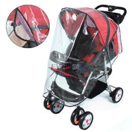 Горящие продажи! Универсальная прогулочная коляска младенца дождевик Багги Pushchair Pram Прозрачный дождевик Хорошее качество Свободная перевозка груза