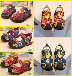 Wholesale 2015 summer baby boy rubber sole sandals yard Superman cartoon boy pattern PU Velcro Baotou beach sandals outlets