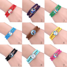 Wholesale 9 colors Hot New Frozen Bracelet Anna Elsa Princess Bracelet Jewelry Olaf bracelets christmas gift baby girls birthday gift Charm Bracelets