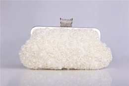 Wholesale 2015 In Stock Ready to Ship Newly Arrived Clutch Bridal Handbags Wedding Purse with Beading