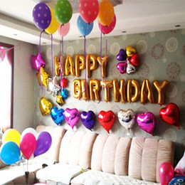 cute gold alphabet letters balloons happy birthday party decoration aluminum foil membrane ballon wholesales online