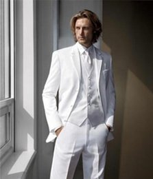 Wholesale Custom men s suit is suitable for white wedding the groom suit dinner party dress