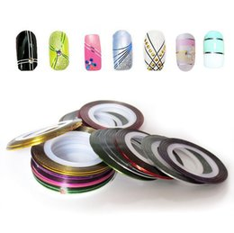 Wholesale Professional Color Rolls Striping Tape Line Nail Art Decoration Sticker B65