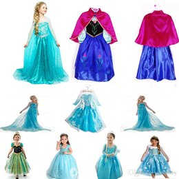 Wholesale 2016 Halloween Costume For Kids Snow Queen Dress Anna Elsa Dresses Elsa Clothing Girls Girl Brand Baby Clothes Kids tutu