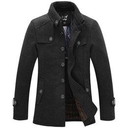 Wholesale New winter dress manteau homme sobretudo men wool coat jackets casacos de la jaqueta masculino overcoat male trench