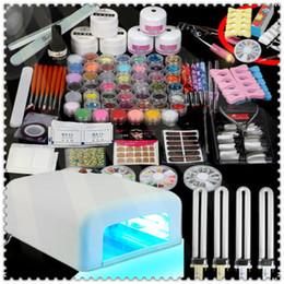 Wholesale Hot W UV Lamp Gel Polish Curing Dryer Light Acrylic Nail Art Kit Set Kit