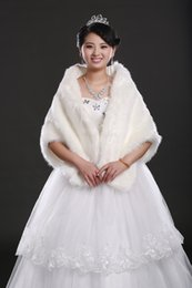 Wholesale 2015 New Bridal Pearl long fur Wedding Fur Wrap Cape Shawl Jackets coat wrap tippet Wedding Dresses with Wrap Girls Capes and Jackets
