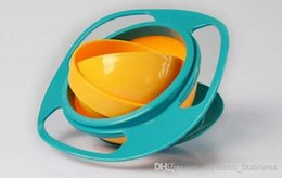 Wholesale Delicate Children Kid Baby Toy Universal Rotate Spill Proof Bowl Dishes Hot Selling